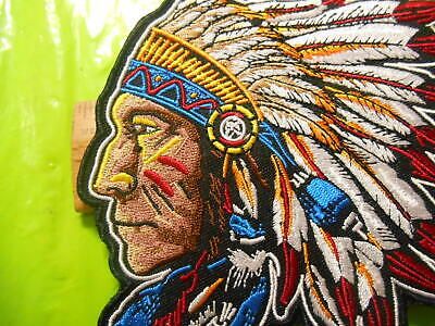 "5"" x 5"" Indian Chief Iron on Patch"