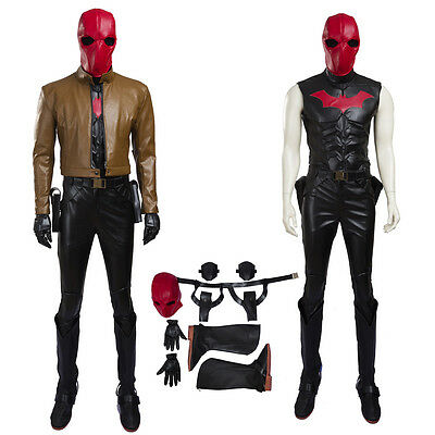 Batman Jason Todd Costume Red Hood Cosplay Costumes included Shoes