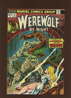 Werewolf By Night 13 VF 7.5 * 1 Book Lot * His Name is Taboo by Wolfman & Ploog!