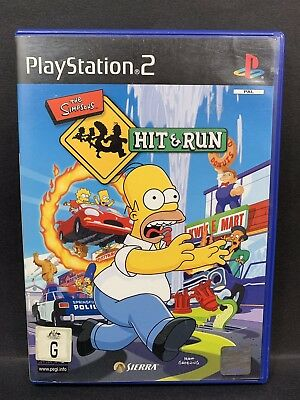 The Simpsons Hit & Run - PS2 Sony PlayStation 2 - AUS PAL Game - VGC with Manual