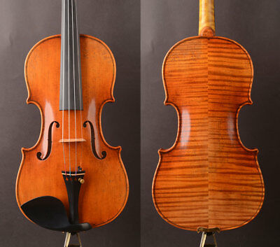 Oil anti!A Stradivari 1715 Copy T20+ Violin!Aubert BG!strong mellow tone.