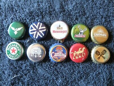 10 assorted bottle caps from different brewers - primarily Australian - lot 6