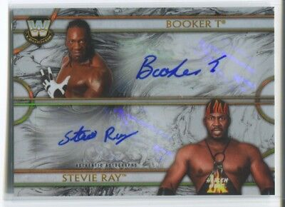 2018 Booker T Stevie Ray Topps WWE Legends AUTO DUAL Autograph 1/10 Harlem Heat