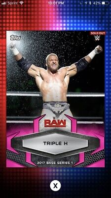Topps WWE Slam 2017 Pink Base Variant Digital Card 50cc Triple H