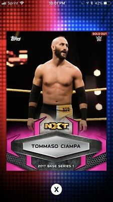 Topps WWE Slam 2017 Pink Base Variant Digital Card 50cc Tommaso Ciampa