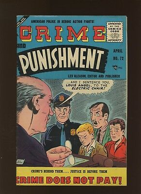 Crime and Punishment 72 FN/VF 7.0 * 1 Book Lot * Golden Age Lev Gleason 1955!
