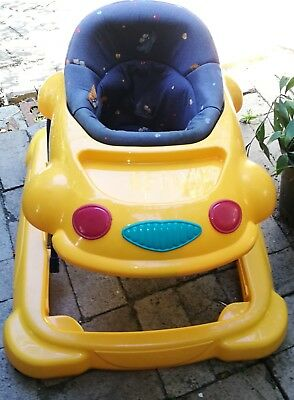 Childcare Baby Walker Yellow Good Condition