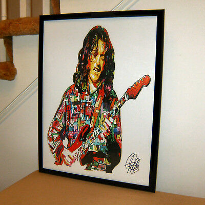 Rory Gallagher Singer Guitar Irish Blues Rock Music Poster Print Wall Art 18x24