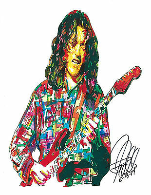 Rory Gallagher Singer Guitar Hard Rock Music Print Poster Wall Art 8.5x11