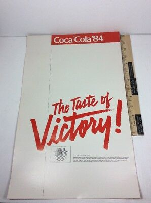 Vintage Coca-Cola 1980 LA OLYMPIC COMMITTEE 1984 The Taste of Victory! Calendar