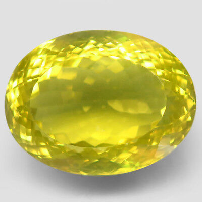 72.29ct.Blazing! 100%Natural Top Lemon Quartz Unheated 28x21mm.AAA Jumbo!.