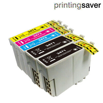 5x Ink Cartridges for Epson 34XL WorkForce Pro WF-3720DWF WF-3725DWF Non-OEM