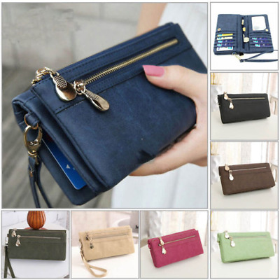AU Women Lady Long Travel Wallet Zip Purse Phone Card Holder Case Clutch Handbag