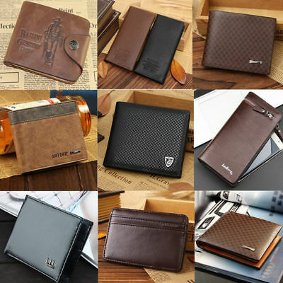 2019 Mens Bifold Leather Wallet Credit Card Holder Billfold Coin Purse Clutch
