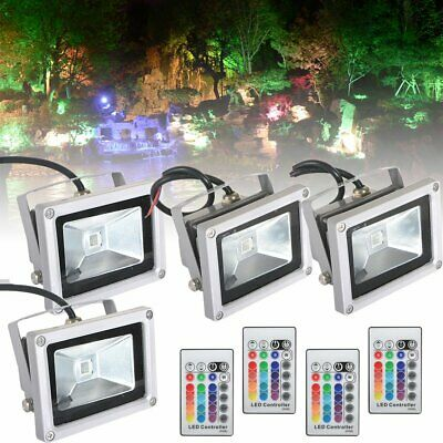 LED Floodlight 10W 20W 30W 50W Security RGB Flood Lights Waterproof Light