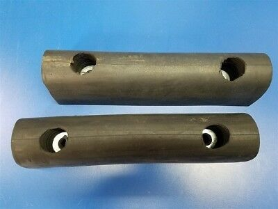 """Set of 2 New Rubber Dock Bumpers 12"""" x 3"""" x 3"""""""
