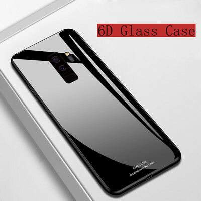 For Samsung S9 S8 Plus A6 A7 A8 Shockrpoof Hard Tempered Glass Back Case Cover