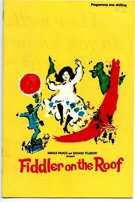1967  FIDDLER ON THE ROOF - TOPOL, MIRIAM KARLIN-Her Majesty's Theatre Programme