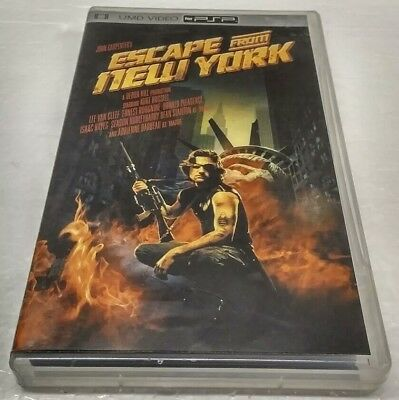 Escape from New York UMD Movie Sony PSP PlayStation Portable w/ Case & Cover Art