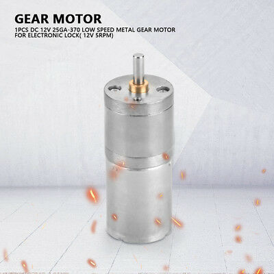 25mm DC12V 25GA-370 Low Speed Metal Gear Motor 5RPM~1000RPM for Electronic Lock