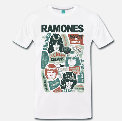 T-Shirt Maglia Ramones Rock Punk Band - 2 -  S-M-L-Xl