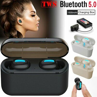 Mini TWS Wireless Bluetooth 5.0 Earbuds Stereo Headset Headphone In-ear Earphone
