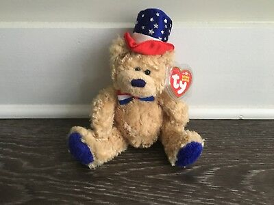 Ty Beanie Babies Independence the Blue Nose Bear (MWMT)