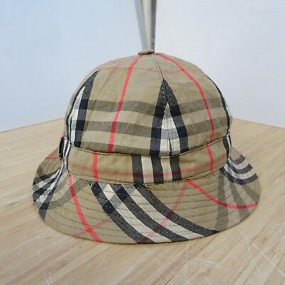 33f2e1a16f5f9 Burberry Vintage Nova Check Bucket Hat Trilby Womens Mens Small 54cm Fedora  11D