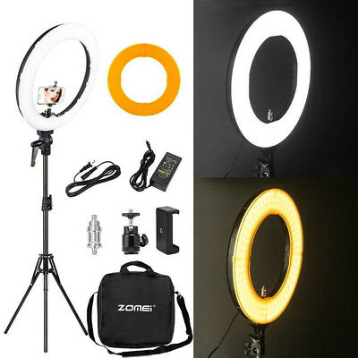 """18"""" LED SMD Ring Light Kit with Stand Dimmable 5500K for Makeup Phone Camera"""