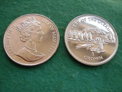 Isle of Man Crown 1998 Year of the Ocean Penguins and Seals KM#898 FREEPOST
