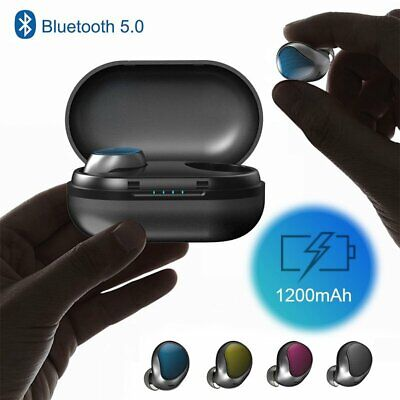 NEW Wireless Bluetooth 5.0 Earbud Mini Headset Touch Noise Cancelling Headphone