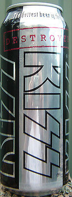 KISS Destroyer 500 Ml Limited Release Collectors Can Bottom Opened Empty