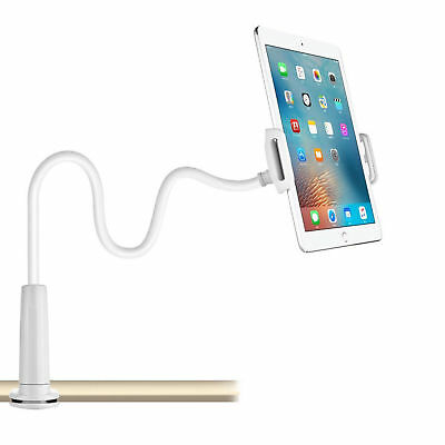 360° Clip Gooseneck Table Bed Clamp Stand Holder Mount For iPad Tablet Flexible