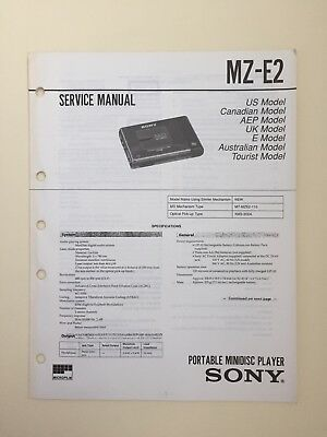 Sony MZ-E2 Service Manual (original Document Not Copy Or PDF)