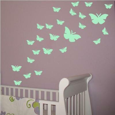 4Pcs New Home Decor Wall Stickers Fluorescent Decal Glow In The Dark Butterfly