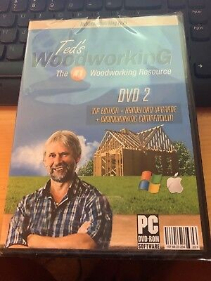 Ted's Woodworking The #1 Woodworking Resource DVD 2 New Sealed