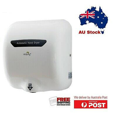 Dolphy Wall-Mounted ABS High Speed European Style Hand Dryer 1800W - White