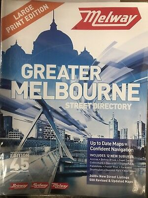 Large Print Melway Street Directory Edition 45, 2018