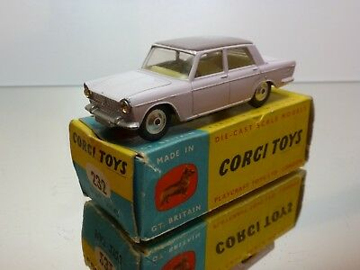 Corgi Toys 232 Fiat 2100 - Pale Pink + Mauve 1:43 - Excellent In Box