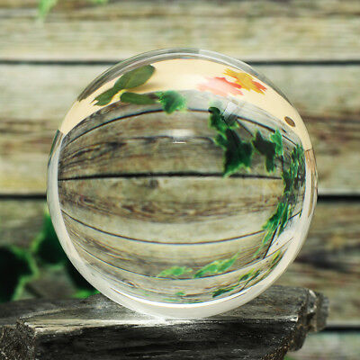 40-90cm Clear Glass Crystal Healing Ball Photography Lens Ball Sphere Decoration