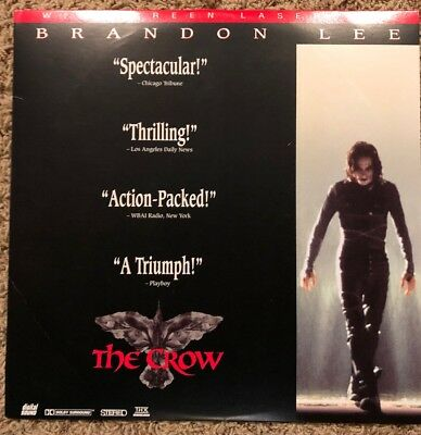 THE CROW Widescreen Extended Play LaserDisc Movie