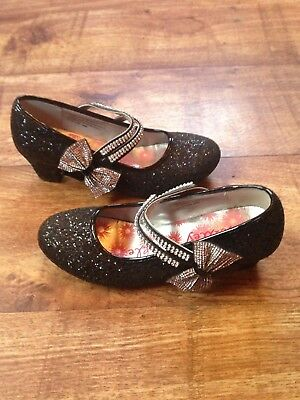 a781ae640510 Girls' Lilley Sparkle Girls Black Glitter Party Shoe