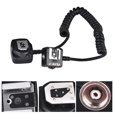 Viltrox TTL Off-Camera Flash Hot Shoe Sync Stretchy Cord Cable For Nikon Camera