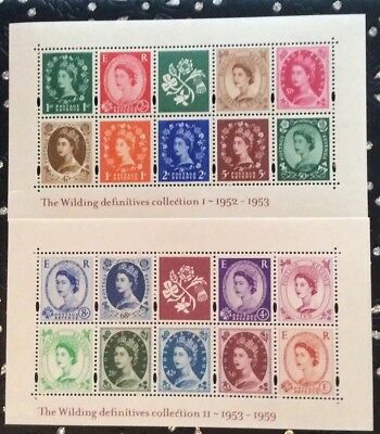 GB QEII 2002 Wilding Definitive collection 1st and 2nd miniature sheets MNH