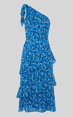 0d8931abaafe Whistles -- Almond Print Dobby Dress - Multi Blue - New With Tag - Size