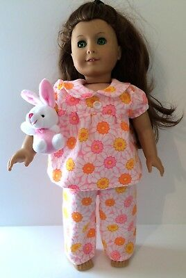 18 Inch Doll Pajamas, Fits Like American Girl Doll Clothes, Doll Daisy Pajamas