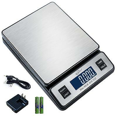 Weighmax W-2809 90 LB X 0.1 OZ Durable Stainless Steel Digital Postal Scale, ...
