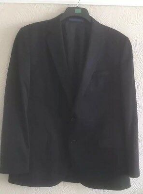 MENS suit size 44 chest M & S, NAVY TWO PCE single breasted 38 waist Trousers