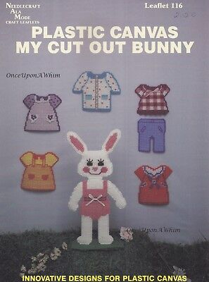 My Cut Out Bunny Needlecraft Ala Mode Plastic Canvas Pattern Booklet 116