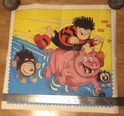 6 Beano Posters (3 The Same, one menu poster) And Postage Tube From Beano H.q.